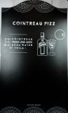 Cointreau Fizz Likör, XXL Kreidetafel, Schreibtafel, Rezepttafel, schwarze Ausführung