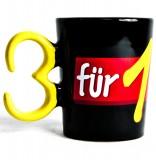 Jacobs Kaffeebecher / Kaffetasse, Becher 3 für 1 Werbebecher, schwarz