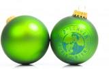Allgäuer Brauhaus Bier, Büble 2x Weihnachtskugeln, Christbaumschmuck, grüne Ausführung