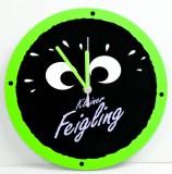 Kleiner Feigling, Wanduhr, schwarz-grün, Kleiner Feigling Augen Uhr
