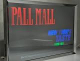 Pall Mall Tabak, Spiegel Leuchtreklame, Leuchtwerbung, Wechselt bei Einschaltung