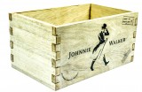 Johnnie Walker Whisky, Echtholz Kiste, Besteckbehälter, Deko-Holzkiste