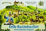 Kulmbacher EKU Bier, Werbeschild, Blechschild Erste Kulmbacher