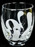 Volvic Wasser, Trinkglas weiß satinierte Schrift, Editionsglas 2011