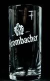 Krombacher Bier, Probierglas, Empfangsglas, Bierglas 0,1l