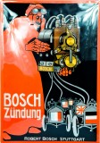 Bosch Zündung, XXL Nostalgie Retro Reklame Blechschild, Werbeschild, gewölbt