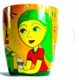 Jacobs Kaffeebecher, Becher, Tasse, Krönung Ritzenhoff Kaffeetasse 11.