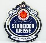 Schneider Weisse, Emaile Werbeschild, Blechschild Hefe-Weissbier