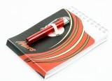 Mars, Schreibblock, Notizblock, Ringbindung und Mini-Kugelschreiber (ausfahrbar)