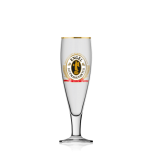 Engel Bier, Pokalglas Bierglas, Biergläser, Glas / Gläser, Goldrand, 0,2 l