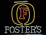 Fosters Bier, Acryl Neon Leuchtreklame, Leuchtwerbung, 3 farbig, sehr selten!