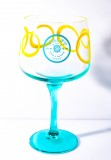Malfy Gin Glas, Gin Tonic Gläser, Ballonglas, Cocktailglas, mint gelbe Eingebung