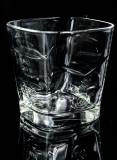 Ballantines Glas / Gläser, Whiskyglas, Tumbler, eckige schwere Ausführung S
