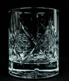 Dewars Scotch Whisky, Kristall Tumbler im Relief, Whiskyglas