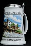 Krombacher Bier, Steinkrug, Seidel, Sammlerkrug Der Jahreskrug 1989 Zertifikat