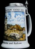 Krombacher Bier, Steinkrug, Seidel, Sammlerkrug Der Jahreskrug 1990 Zertifikat