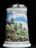 Krombacher Bier, Steinkrug, Seidel, Sammlerkrug Der Jahreskrug 1991 Zertifikat