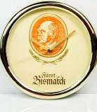 Fürst Bismarck, Kunststoff Wanduhr, Beige-Messing, Fürst Bismarck Uhr