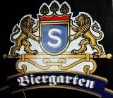 Sanwald Weizen Bier, Werbeschild aus Kunststoff mit Halterung, gr. Ausführung