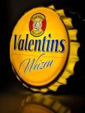 Valentins Weißbier, Leuchtreklame, Leuchtwerbung, Kronkorken sehr selten...