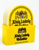 König Ludwig, Bierdeckelständer Acryl incl. 25 x Bierdeckel König Ludwig