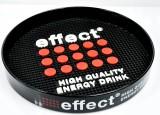 Effect Energy, Rund Tablett, Kellnertablett mit Noppeneinlage, schwarz