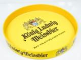 König Ludwig Weissbier, Serviertablett, Kellnertablett, Rundtablett