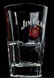 Jim Beam, Whisky, Massives Longdrinkglas im Relief, Whiskyglas, alte Ausführung