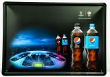 Pepsi Cola, 3D Werbeschild, Blechschild UEFA Champions League