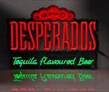 Desperados Bier, LED Leuchtreklame, Leuchtwerbung mit Dimmfunktion  TfB