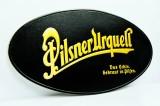 Pilsener Urquell Bier, Werbeschild, Reklameschild aus Kunststoff, Lederoptik
