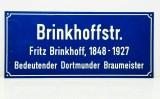 Brinkhoffs Bier, Werbeschild, Reklameschild aus Kunststoff, Straßenschild