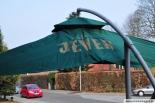 Jever Bier Sonnenschirm / Ampelschirm ca. 245 x 245 cm mit Kurbel