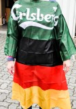 Carlsberg Bier, EM 2016 Deutschland Fan Umhang, Fahne Flagge