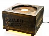 Bulleit Whiskey, Echtholz Leuchtreklame, Flaschenleuchte für 1 - 3 Liter Flasche