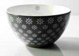 Gerolsteiner Wasser, Porzellan Müslischale, Bowls, Schale, Farbe Grau