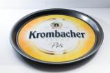 Krombacher Bier, Serviertablett, Kellnertablett, Rundtablett rund, Antirutsch