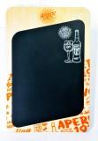 Aperol Spritz, Echtholz Kreidetafel, Menütafel Chalckboard mit Kreide