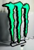 Monster Energy, XXL Led Leuchtreklame, Leuchtwerbung Kralle dimmbar Fernbedienung