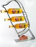 Desperados Bier, XXL Flaschenständer, Flaschenpodest aus gebürstetem Edelstahl