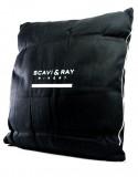 Scavi & Ray, Federweiches Wohnzimmerkissen, Stoffkissen Winery schwarz