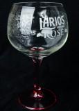 Larios Rose Gin, Ballonglas, Gin Tonic Glas, Reliefprägung Pink/Rose