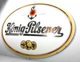 König Pilsener Bier, Werbeschild, Emaile Schild, Reklameschild, weiß