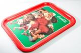 Coca Cola, Weihnachts Tablett aus Metall, Original USA