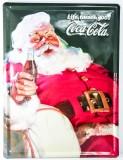 Coca Cola, XXL 3D Werbe Blechschild, Weihnachtmotiv Live tastes.. Original USA