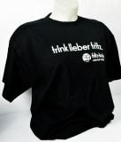 Fritz Cola, T-Shirt, Werbeshirt Trink lieber.. Logo vorne schwarz L