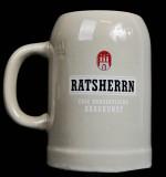 Ratsherrn Pils, Bierseidel, Steingut Humpen, Bierkrug 0,5l Fleeten-Kieker