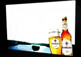 Krombacher Bier, XXL Magnet Tafel, Schreibtafel, Whiteboard aus Metall