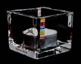 Pall Mall Tabak, Glas Windlicht mit Teelichtkerze, klare Ausführung