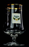 Moravia Pils, Pokalglas, Bierglas 0,3l, Colani Style mit Goldrand, sehr selten!!